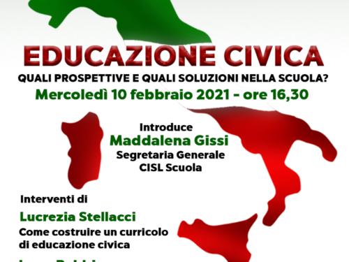 """""""Educazione civica, quali prospettive e quali soluzioni per la scuola?""""."""